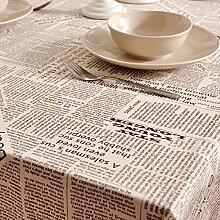 Home tischdecke englische zeitung stoffe aus baumwolle leinen tischdecke-tee tischdecke tischtuch-B 140x200cm(55x79inch)