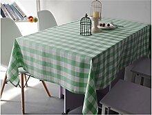 Home Tischdecke Färben Sie Gitter-Tischdecke-Tee-Tabellen-Tuch-rechteckige Tischdecke-Tuch Hotel-Hotel-runder Tisch-quadratisches Picknick-Tuch ( Farbe : C , größe : 90*140cm )