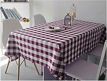 Home Tischdecke Gefärbte Gitter Tischdecke Tischdecke Tuch Tisch Tischtuch Tuch Hotel Hotel runden Tisch quadratischen Picknick Tuch ( Farbe : B , größe : 140*180cm )
