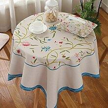 Home Tischdecke Quadratische Tischdecke, Ländliches Tuch Wasserdichte Tischdecke Anti-Öl-Verschmutzung Kaffeetisch Tuch Wohnzimmer Runder Tisch Tischdecke ( Farbe : 4# , größe : 110*110CM )
