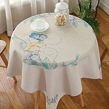 Home Tischdecke Quadratische Tischdecke, Ländliches Tuch Wasserdichte Tischdecke Anti-Öl-Verschmutzung Kaffeetisch Tuch Wohnzimmer Runder Tisch Tischdecke ( Farbe : 3# , größe : 90*90cm )