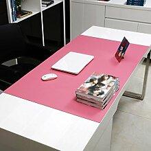 Home Tischdecke Rechteckige Tischdecke, Bürotisch Matten Computer Tisch Mats Schreiben Tisch Mats Mauspad Übergroße Matratze Dicker Mehrfarbige Esstisch Tischdecke ( Farbe : Pink2.8mm , größe : 90*50cm )