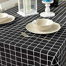 Home tischdecke retro home tischtuch.lattice ländliche tischdecke teetisch längliche tischdecke.mehrere farben.-C 140x180cm(55x71inch)