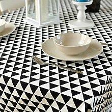Home tischdecke retro home tischtuch.lattice ländliche tischdecke teetisch längliche tischdecke.mehrere farben.schwarz-schwarz 140x180cm(55x71inch)