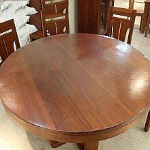 Home Tischdecke Scrub runde Tischdecke, PVC wasserdichte runde Tischdecke Anti-hot weichen Glas runden Tisch Mats ( Farbe : Round/2.0mm , größe : Round/70cm )