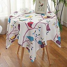 Home Tischdecke Square Tischdecke, Ländliches Tuch Wasserdichte Tischdecke Anti-Öl-Verschmutzung Couchtisch Tuch Wohnzimmer Runde Tisch Tischdecke ( Farbe : 3# , größe : 110*110CM )