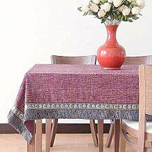 Home tischdecke,Top-grade home tischtuch,Kreativ Tee tischdecke Quadratische Längliche tischdecke Mehrere farben -Lila 180x280cm(71x110inch)