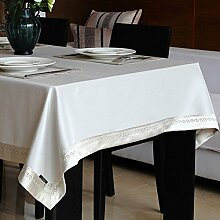Home tischdecke vintage tischdecke deluxe tischtuch.edge teetisch sauber längliche tischdecke-mehrere farben.white-Weiß 140x220cm(55x87inch)