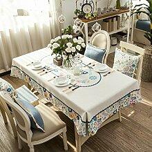 Home tischdecke,vintage tischdecke,deluxe tischtuch.stoff baumwolle leinen/kreative tischtuch/teetisch/sauber/längliche tischdecke-verschiedene stile.-A 100x100cm(39x39inch)