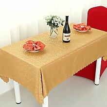 Home tischdecke,vintage tischdecke,der print tischdecken.europäisch/teetisch/romantisch/längliche tischdecke- gelbe tischtuch-Gelb 120x180cm(47x71inch)