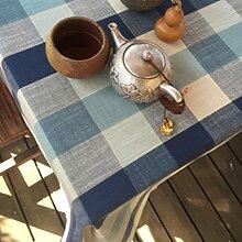 Home tischdecke,vintage tischdecke.Östliches mittelmeer tisch-tuch.stoff baumwolle leinen lÄndlichen] stoff baumwolle leinen moderne landschaft lattice] edge teetisch sauber längliche tischdecke.mehrere farben.blue-Blau 130x130cm(51x51inch)