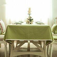 Home tischdecke,vintage tischdecke,pvc.deluxe tischtuch/wasserdicht]/farbechtheit/Öl-beweis/teetisch/sauber/längliche tischdecke.grün-grün 90X140cm(35x55inch)