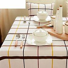 Home tischdecke vintage tischdecke raster tischdecke.stoff baumwolle leinen edge teetisch sauber längliche tischdecke-mehrere farben.-A 90x90cm(35x35inch)
