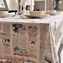 Home tischdecke vintage tischdecke simple zeitung tischtuch tischtuch stoff baumwolle leinen teetisch sauber längliche tischdecke.verschiedene stile.-B 140x180cm(55x71inch)