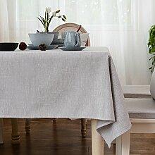 Home tischdecke vintage tischdecke.stoff baumwolle leinen edge teetisch sauber längliche tischdecke-mehrere farben.grey-Grau 110x110cm(43x43inch)