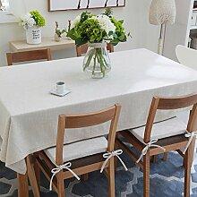 Home tischdecke,vintage tischdecke,volltonfarbe moderne landschaft spitze edge teetisch sauber längliche tischdecke.mehrere farben.white-Weiß 180x130cm(71x51inch)
