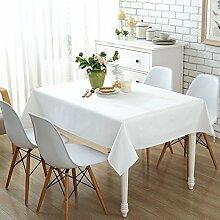 Home tischdecke,vintage tischdecke.volltonfarbe/teetisch/sauber/längliche tischdecke-mehrere farben.white-Weiß 145x200cm(57x79inch)