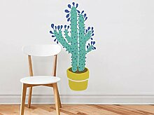Home Topf Sukkulente Pflanze AufkleberGrün