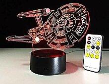Home Touch Control 3D Star Trek LED-Licht 5V