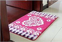 Home Türmatten Fußmatte Küchenspüle im Eingang Kinder Badezimmer mit Bad Wasserabsorption Schlafzimmer Fuß Pad ( größe : 0.5*0.8m )