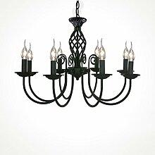 HOME UK-Blau minimalistische moderne mediterrane schmiedeeiserne Kronleuchter Wohnzimmer Restaurant Schlafzimmer Lampe