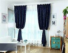 HOME UK- Ein Satz von 2 Stück Pastoral Voll Schattierung Vorhang Schlafzimmer Wohnzimmer Isolierung Sonnenschutz Verdickung Schattierung Fertigprodukte ( größe : 1.5*2m (width*height) )