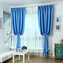 HOME UK- Ein Satz von 2 Stück Pastoral Voll Schattierung Vorhang Schlafzimmer Wohnzimmer Isolierung Sonnenschutz Verdickung Schattierung Fertigprodukte ( größe : 2*1.8m (width*height) )