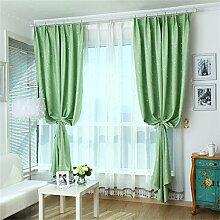 HOME UK- Ein Satz von 2 Stück Pastoral Voll Schattierung Vorhang Schlafzimmer Wohnzimmer Isolierung Sonnenschutz Verdickung Schattierung Fertigprodukte ( größe : 2.7*1.8m (width*height) )