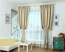 HOME UK- Ein Satz von 2 Stück Pastoral Voll Schattierung Vorhang Schlafzimmer Wohnzimmer Isolierung Sonnenschutz Verdickung Schattierung Fertigprodukte ( größe : 1.3*1.5m (width*height) )