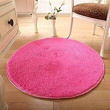 HOME UK-Einfache, moderne Runde Teppiche Wohnzimmer Schlafzimmer Suede Tuchkunst Teppich