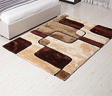 HOME UK-Einfache, moderne Teppich Wohnzimmer Schlafzimmer Nacht verdickte Teppiche