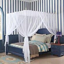 HOME UK- European Style Square Top Moskitonetz Dreitürige Verschlüsselung Verdickung Home Doppelbett Prinzessin Style Aprikose Farbe ( größe : 2 0m (6 6 Fuß) Bett )