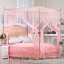 HOME UK- European Style Square Top Mosquito Net Dreitürige Verschlüsselung Verdickung Single Doppelbett Edelstahl Halterung Jade Farbe Jade Farbe ( Farbe : 22mm , größe : 1.8*2.2m bed )