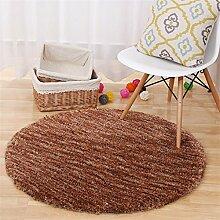 HOME UK-Import Sectional Färben Runde Teppiche Computer Stuhl Mat Wohnzimmer Schlafzimmer Teppich Yoga Teppiche