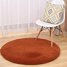 HOME UK-Lammfell Runde Teppiche Yoga Teppich Schlafzimmer Wohnzimmer Bettvorleger