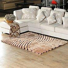 HOME UK-Luxus Europäische 3D Stereoscopic Stretch Garn Teppich Wohnzimmer Schlafzimmer Mode Teppich