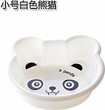 Home und Verschiedene verdickte Kind Waschbecken Kingsize Plastikkarte Becken home washtub baby baby Waschbecken Waschbecken Kleine weiße Panda