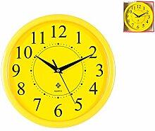 Home Wanduhr rund, gelb, 25x 25x 4cm