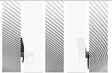 Home Wohnideen Schiebevorhang 5Er Set Digitaldruck Stripe 245 X 60 CM Stripe Grau