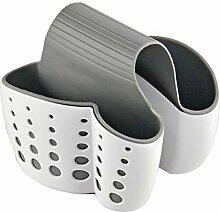 Home-X Doppelwaschbecken mit Halter für Schwämme