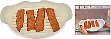 HOME-X Mikrowellengeeignetes Speckblech, Pommes
