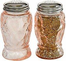 HOME-X Salz- und Pfefferstreuer aus Glas in