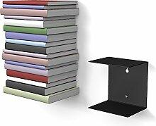 home3000 1 schwarzes unsichtbares Bücherregal mit