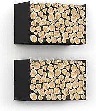 home3000 Kaminholzregal Designregal aus Metall in