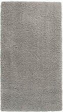 Home4You Maschinenwebteppich Hochflorteppich Zottelteppich Shaggyteppich SMOOTH | 65x130 cm | Silberfarben