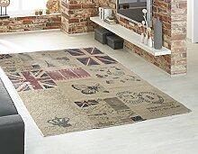 Home4You Vintageteppich Wohnzimmerteppich