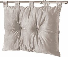 Homea Bett-Kopfteil, Velours, einfarbig, Romantisch, Polyester, 50x 68cm, Polyester, taupe, 68x12x50 cm
