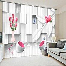 HomeAZWQ Verdunklungsgardinen Vorhang Wohnräume,