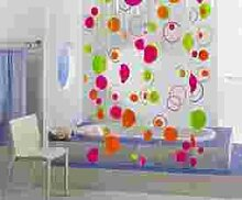 HomeBain 701553Bubbles Duschvorhang PVC Rosa