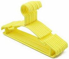 Homebase Slim Leicht rutschfester Kunststoff Kinder Kleiderbügel 20Stück, plastik, Gelb, Einheitsgröße